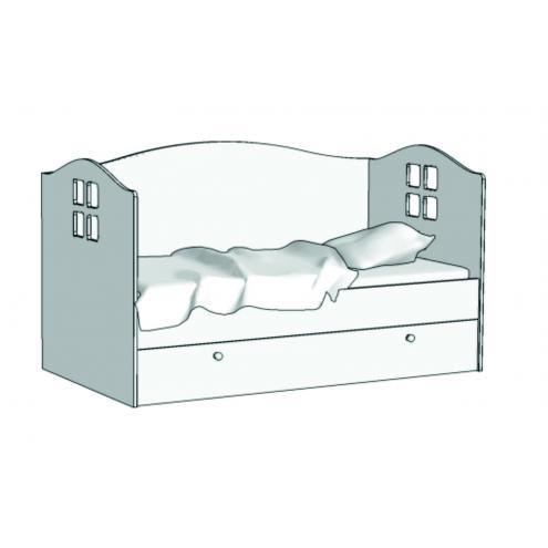 Кровать Домик (с заглушкой) KD-16Z