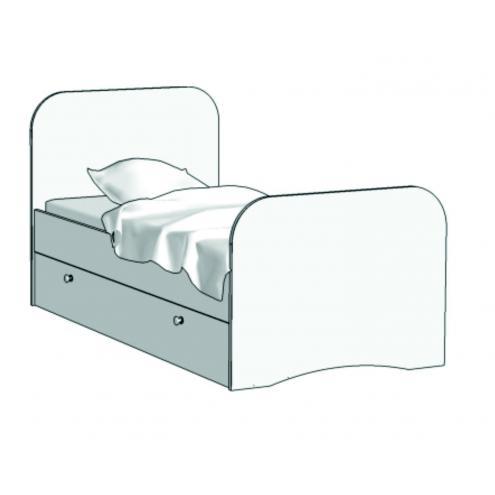 Кровать Стандарт (с ящиком на шариковых направляющих) KE-16Q с рисунком
