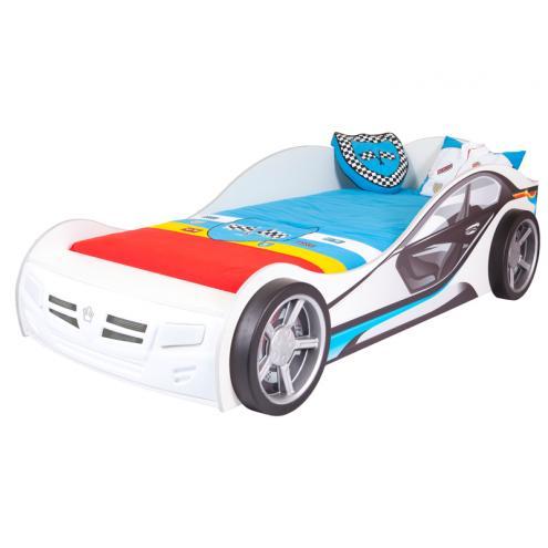 Кровать машина базовая La-Man (синяя)