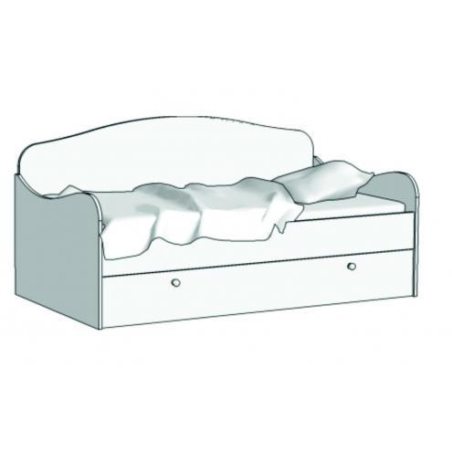 Кровать Диван (с независимым ящиком) KS-16Y с рисунком
