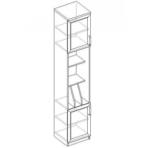 Шкаф для книг 2дв.
