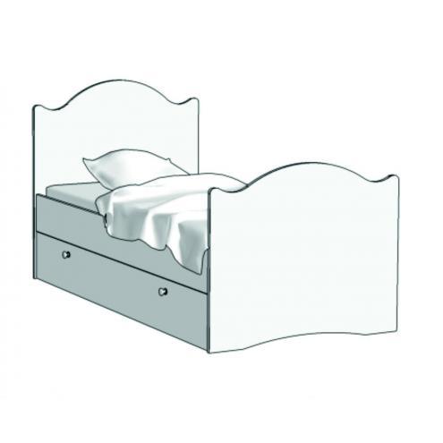 Кровать Эксклюзив Авто (с ящиком на шариковых направляющих) KX-16Q с рисунком