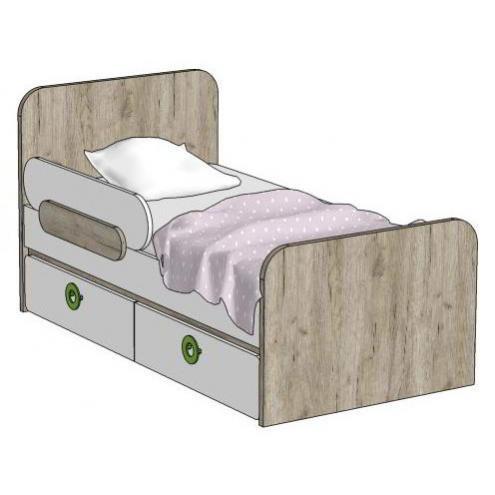 Кровать с 2-мя ящиками (универсальная) MB2-160Q Клюква Мини