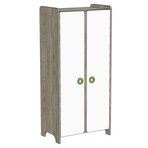 Шкаф 2-х дверный MH1-95 Клюква Мини