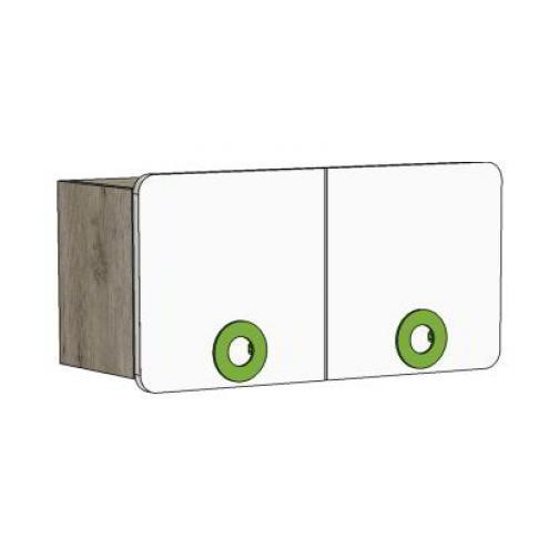 Шкаф навесной 2-х дверный MN2-70 Клюква Мини