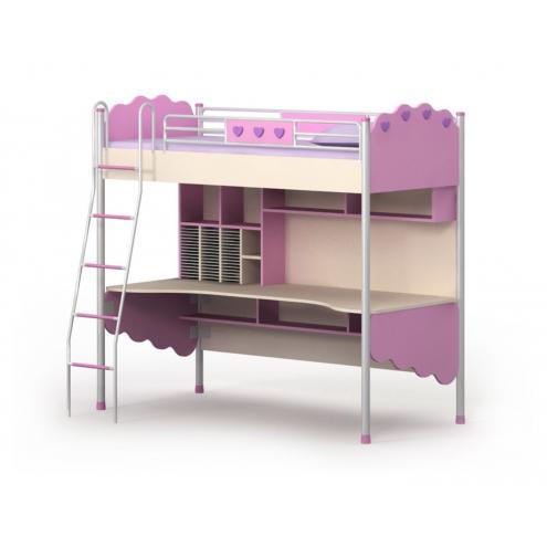Кровать-чердак Pink