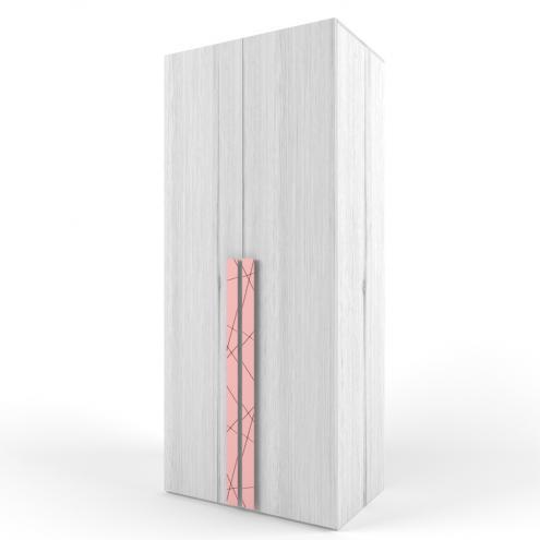 Шкаф 2-х дверный НьюТон розовый