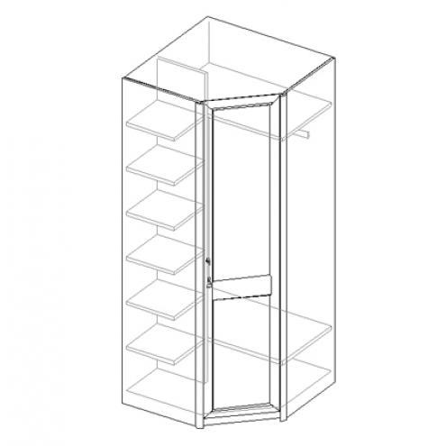Шкаф для одежды 1-дверный, угловой 21.120