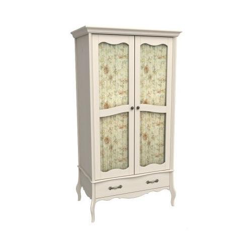 Шкаф 2-х дверный Лебо со стеклянными дверями (бежевый воск) 55722