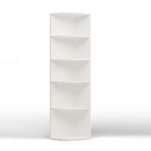 Стеллаж угловой к шкафу (белый)