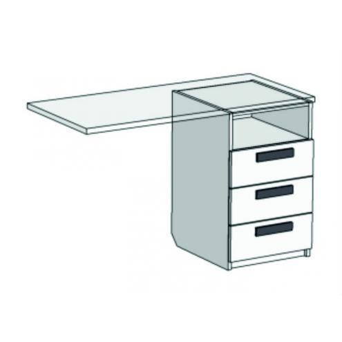 Тумба с 3 ящиками для компьютерного стола Junior TT-0235Q с рисунком