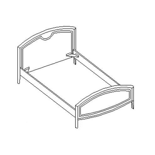 Кровать под матрас 120*200 20.452