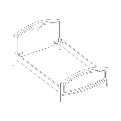 Кровать под матрас 90*200 20.462