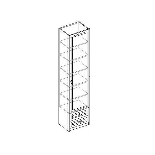 Шкаф для белья 1-дверный с 2 ящиками. 20.040