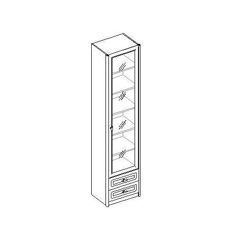 Шкаф для книг 1-дверный с 2 ящиками. 20.041