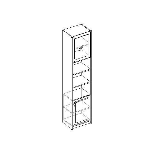 Шкаф для книг 2-х дверный. 20.051