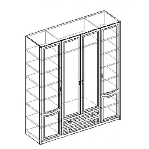 Шкаф для одежды 4-х дверный с 2 ящиками. 20.152