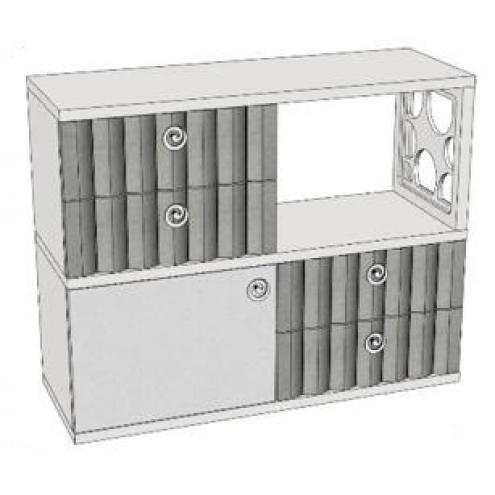 Горка 2-х этажная с 4-мя ящиками VG6-49Q Velvet